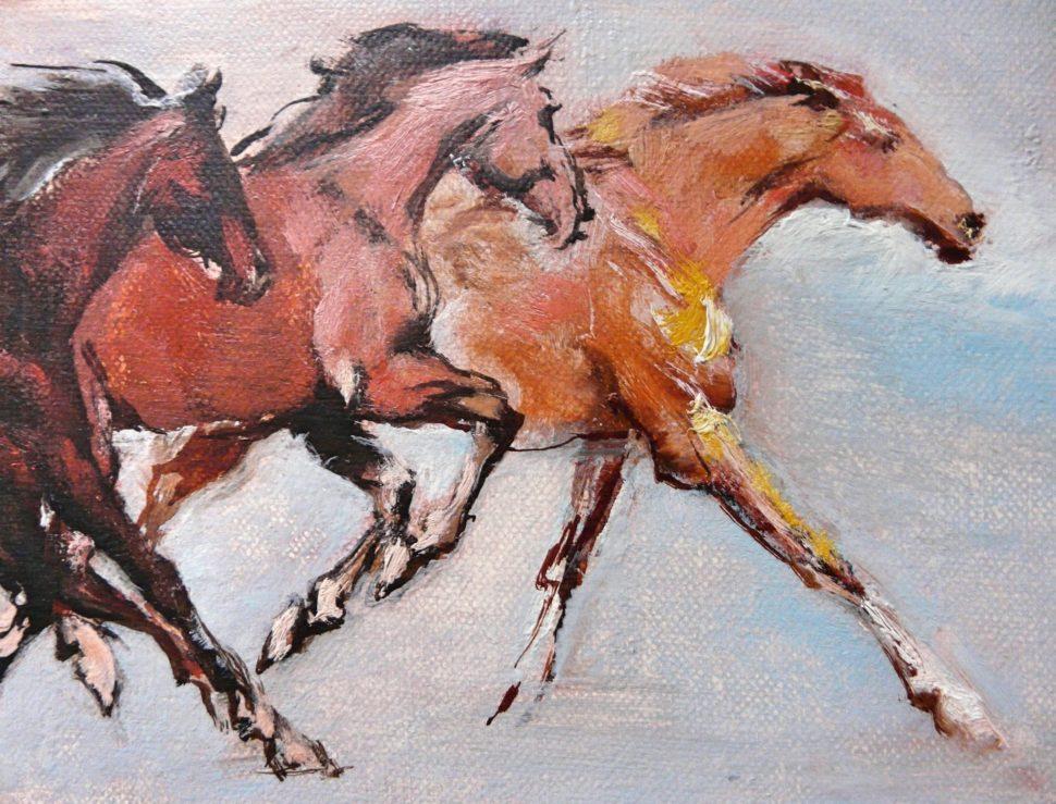 Obraz Sedm koní od Jan Řeřicha Cardamine