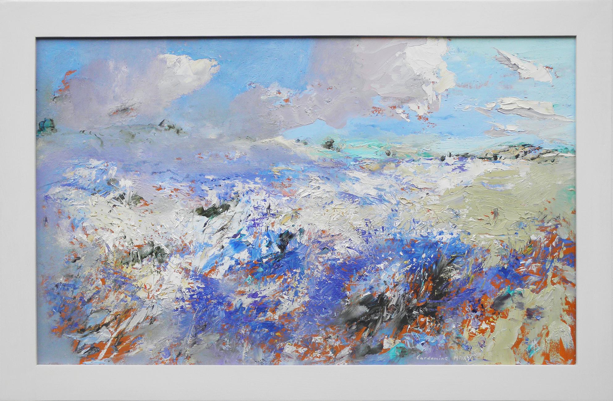 Obraz Modrobílé pole akademický malíř Jan Řeřicha Cardamine