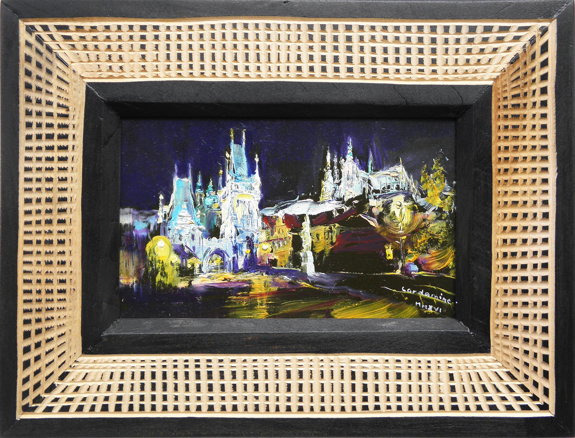 Obraz Noční panorama akademický malíř Jan Řeřicha Cardamine