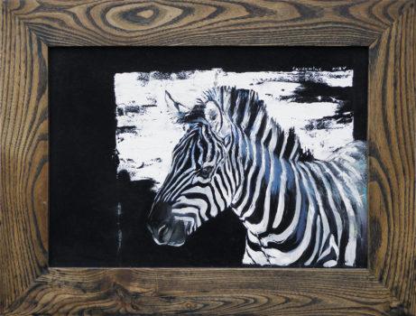 Obraz Portrét zebry akademický malíř Jan Řeřicha Cardamine