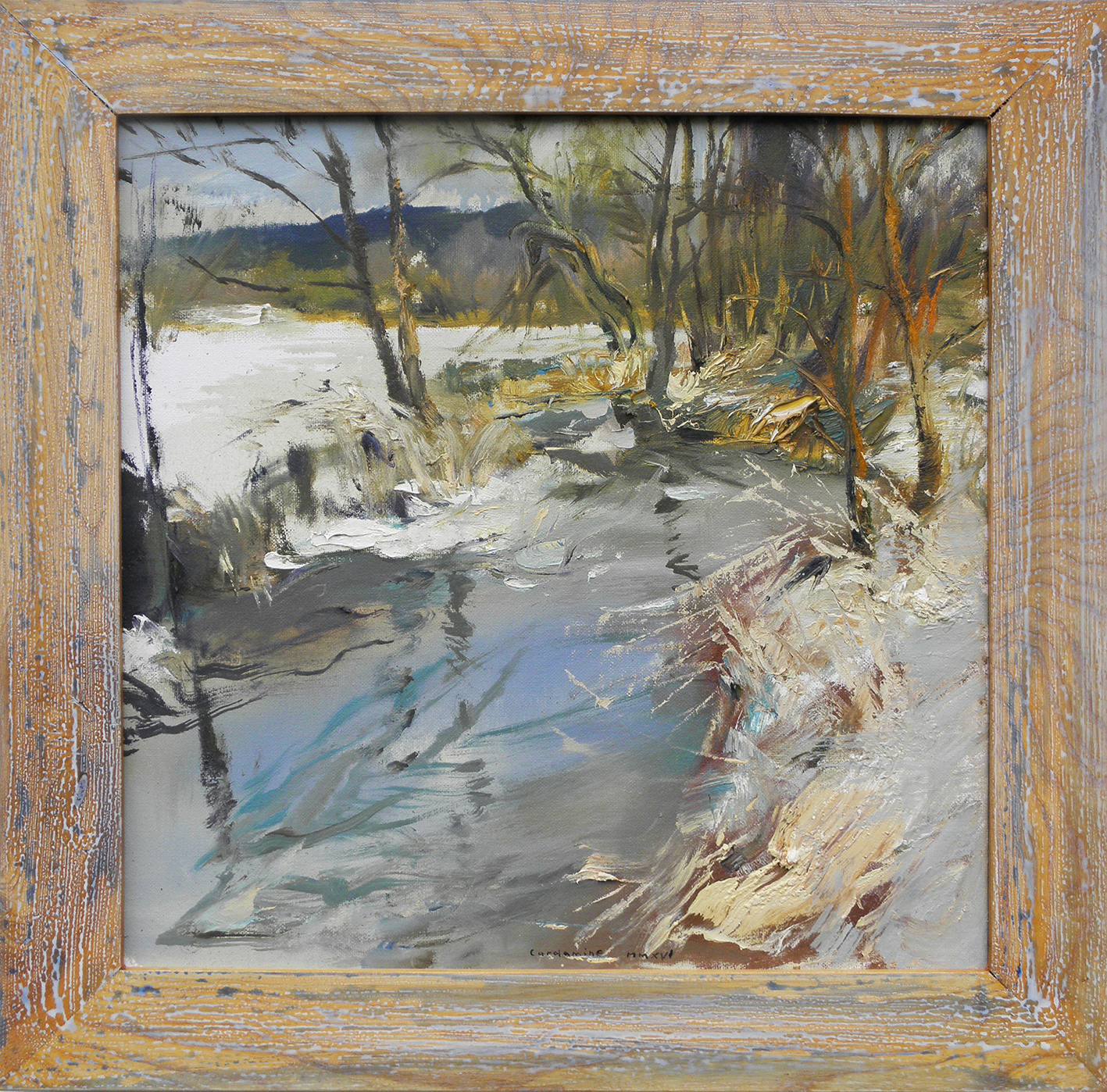 Obraz Tající led napotoce od Jan Řeřicha Cardamine