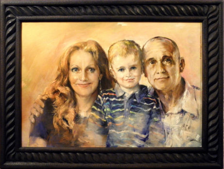 Obraz Rodinný portrét, akademický malíř Jan Řeřicha Cardamine, Zakázková tvorba