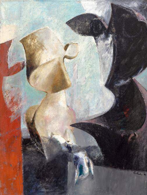 Akademický malíř Jan Řeřicha Cardamine - obraz Hladové hlavy