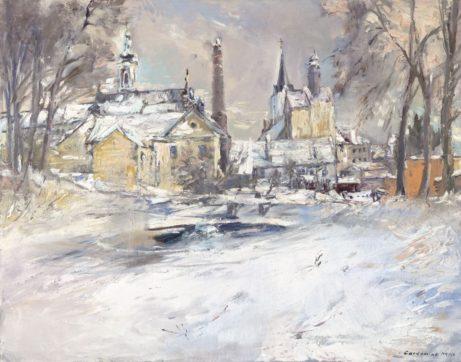 Akademický malíř Jan Řeřicha Cardamine - obraz Pacov vzimě
